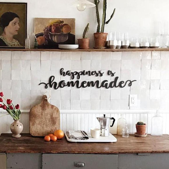 Happiness Is Homemade Metal Lettering | Decoraline