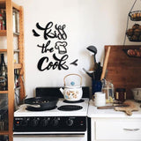 Kiss The Cook Metal Lettering | Decoraline