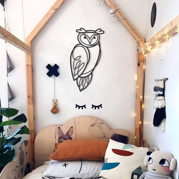 Owl Metal Decor | Decoraline