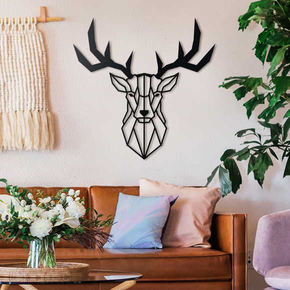 Deer Head Metal Decor | Decoraline