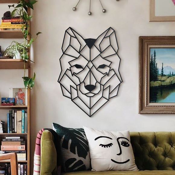 Wolf Head Metal Decor | Decoraline