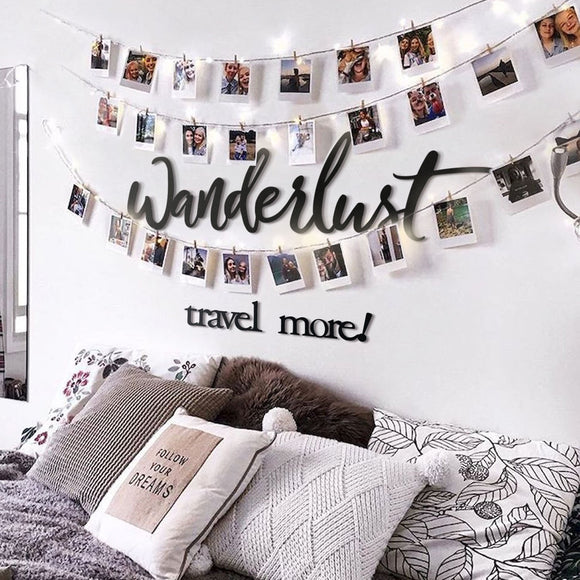 Wanderlust Metal Decor | Decoraline