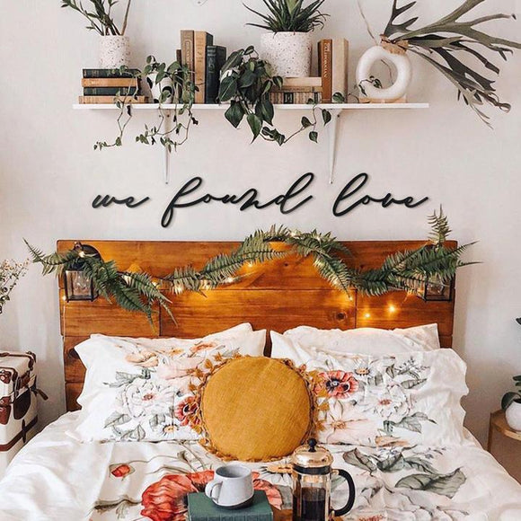 We Found Love Metal Decor | Decoraline