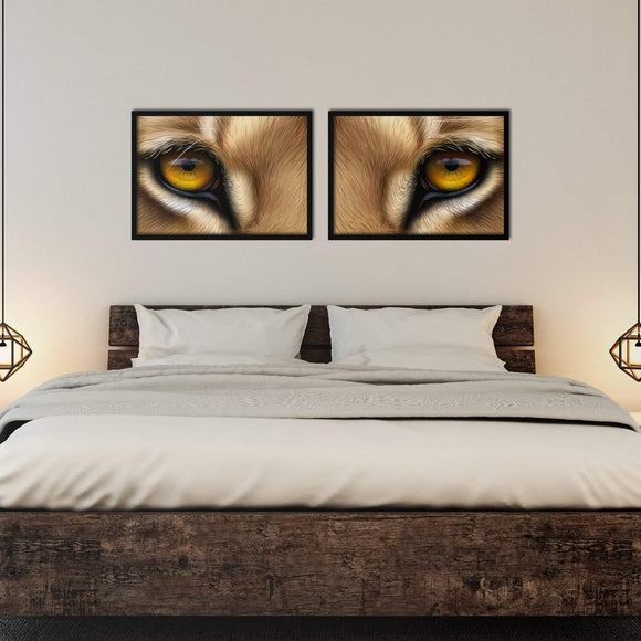Lion Eyes Poster Set | Decoraline