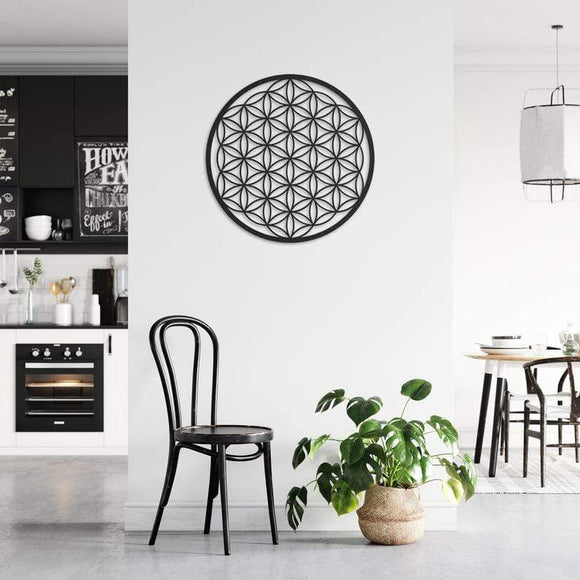 Flower of Life Metal Decor | Decoraline