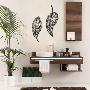 Feathers Metal Decor | Decoraline