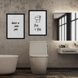 Lavatory Poster Set | Decoraline