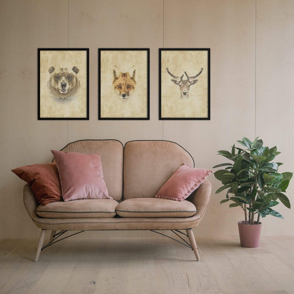 Geometric Wild Poster Set | Decoraline