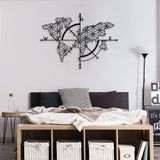 Map of Life World Map Metal Wall Decor | Decoraline