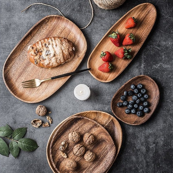Espen Wooden Plate Set | Decoraline