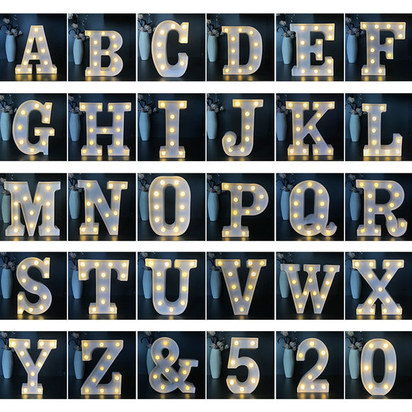 Alphabet Letter Decorative Light | Decoraline