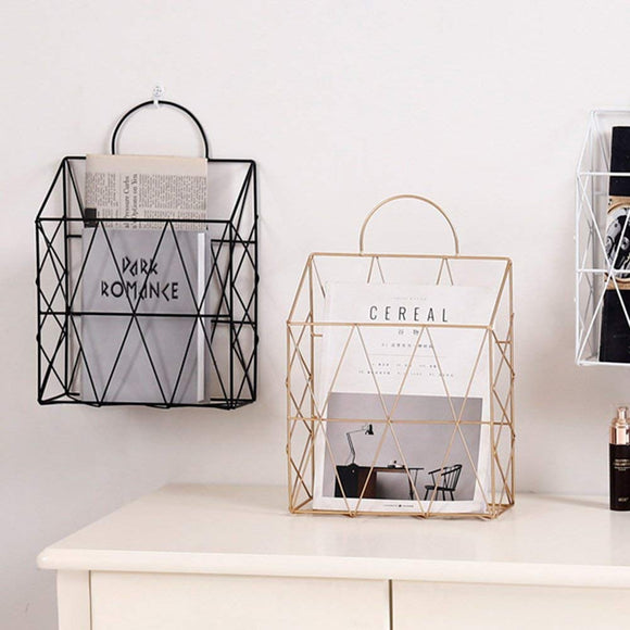 Niles Metal Newspaper Stand | Decoraline