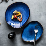 Aqua Ceramic Plate | Decoraline