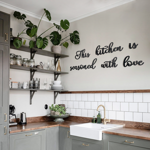 This Kitchen Is Seasoned With Love Metal Decor | Decoraline