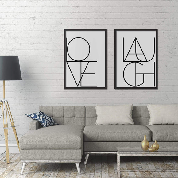 Love & Laugh Poster Set | Decoraline