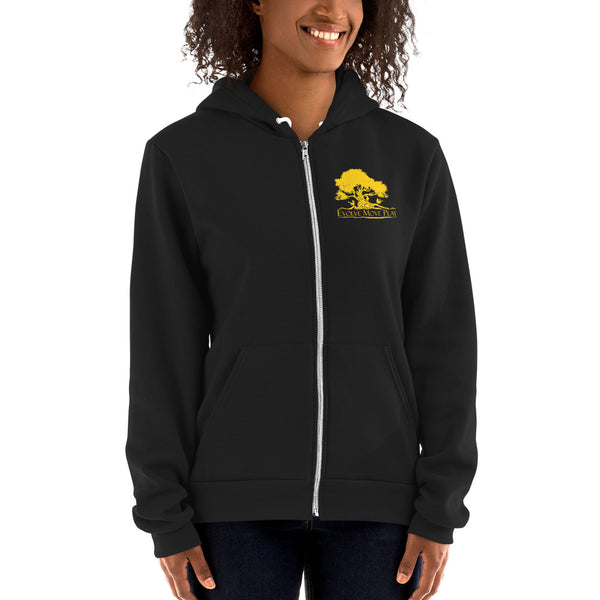 Unisex Full Zip Hoodie (Black & Yellow)