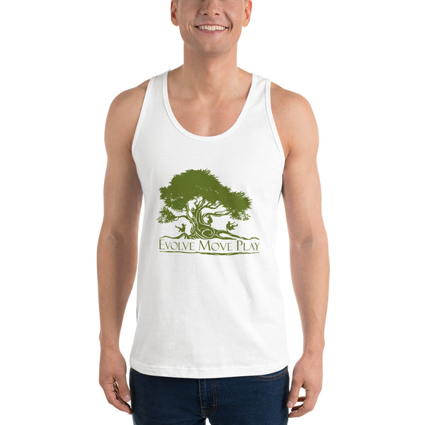 Classic unisex tank top (White & Green)