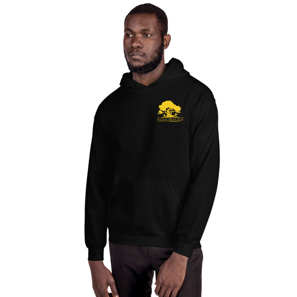 Unisex Pullover Hoodie (Black & Yellow)