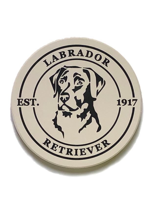 Labrador Coasters — Set of Four Round Ceramic Coasters