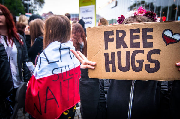 Free Hugs - In a Crisis, People Adapt Quickly