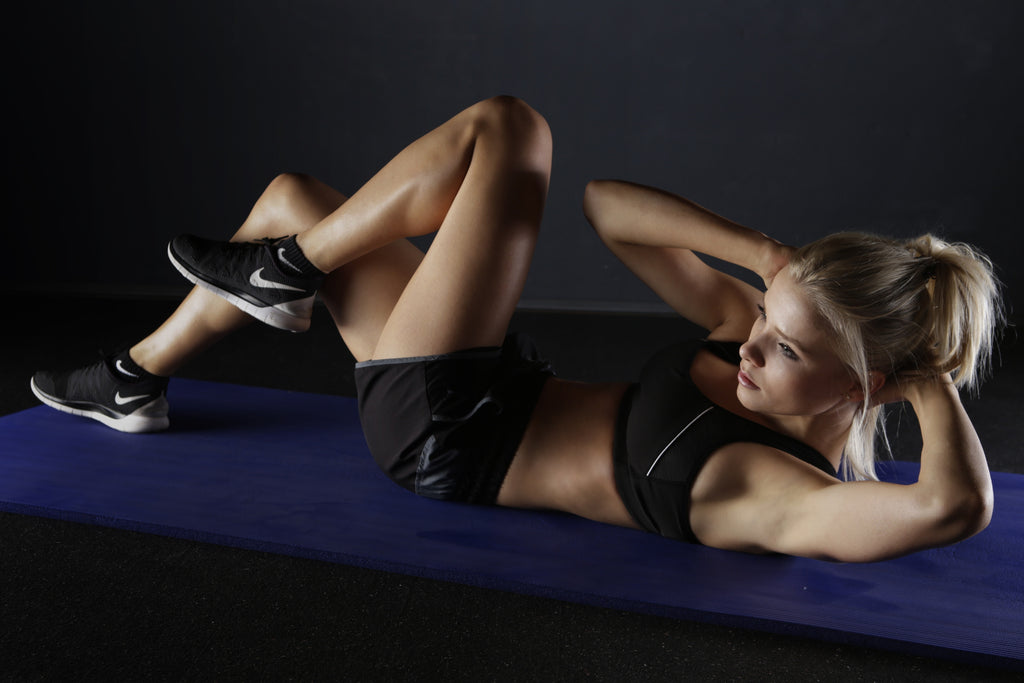a woman doing workout