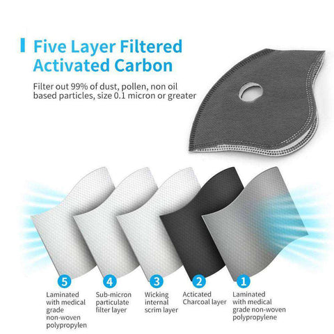 PM2.5 carbon filters