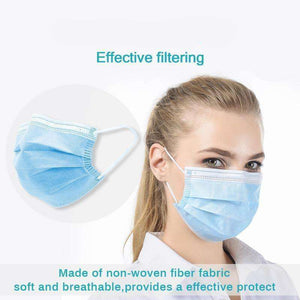 3 ply Surgical Mask Blue Disposable (ASTM Level 1) Disposable Surgical Mask FluShields 100
