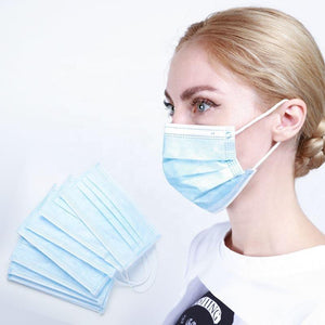 3ply Surgical Mask Blue | Type IIR EN 14683 CE Medical Mask Disposable Surgical Mask FluShields 50