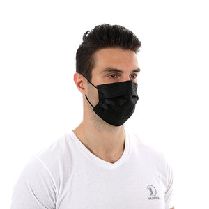 Black Disposable 3 ply Surgical Mask Civil Mask Surgical Mask FluShields