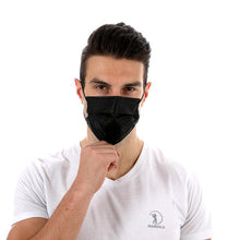 Load image into Gallery viewer, Black Disposable 3 ply Surgical Mask Civil Mask Surgical Mask FluShields