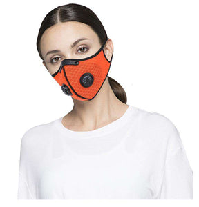 Reusable KN95 Respirator Mask Tactical (PM2.5) | Full Face Mesh Orange Reusable KN95 Mask FluShields