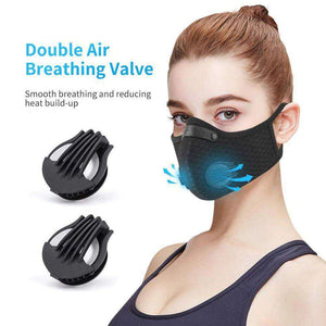 Reusable KN95 Respirator Mask Tactical (PM2.5) | Full Strap Mesh Light Blue Reusable KN95 Mask FluShields