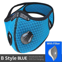 Laden Sie das Bild in den Gallery Viewer, Reusable KN95 Respirator Mask Tactical (PM2.5) | Full Strap Mesh Light Blue Reusable KN95 Mask FluShields