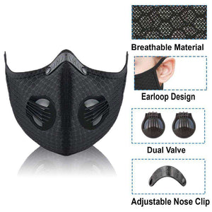 Reusable KN95 Respirator Mask Tactical (PM2.5) | Green Camo Reusable KN95 Mask FluShields