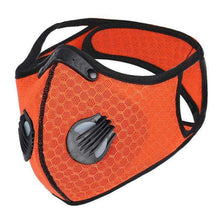 Carregar imagem no visualizador da galeria, Reusable Sports Face Mask | Tactical Design Full Strap Mesh Orange Reusable Sports Mask FluShields Other Orange 1PC