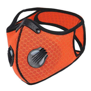 Reusable Sports Face Mask | Tactical Design Full Strap Mesh Orange Reusable Sports Mask FluShields Other Orange 1PC