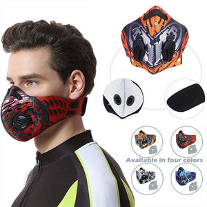 Reusable Sports Face Mask | Tactical Design Red Skull Reusable Sports Mask FluShields