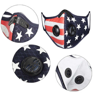 Sports Face Mask | US Flag Mask | Reusable Face Mask Reusable Sports Mask FluShields