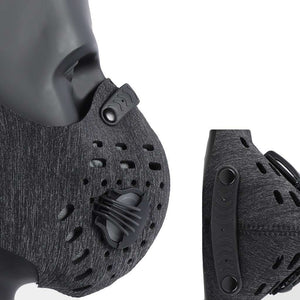 Sports Mask | Dark Grey Tactical Mask with Valve Reusable Sports Mask FluShields