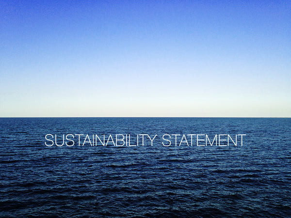 Helen Moore Sustainability Statement