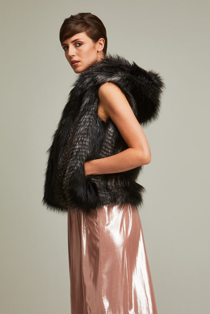 Quail faux fur hooded gilet by helen moore