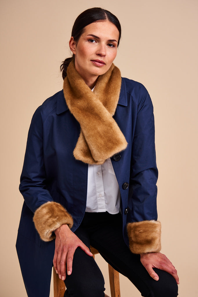Helen Moore Tippet Scarf and Wrist Warmers in Mink