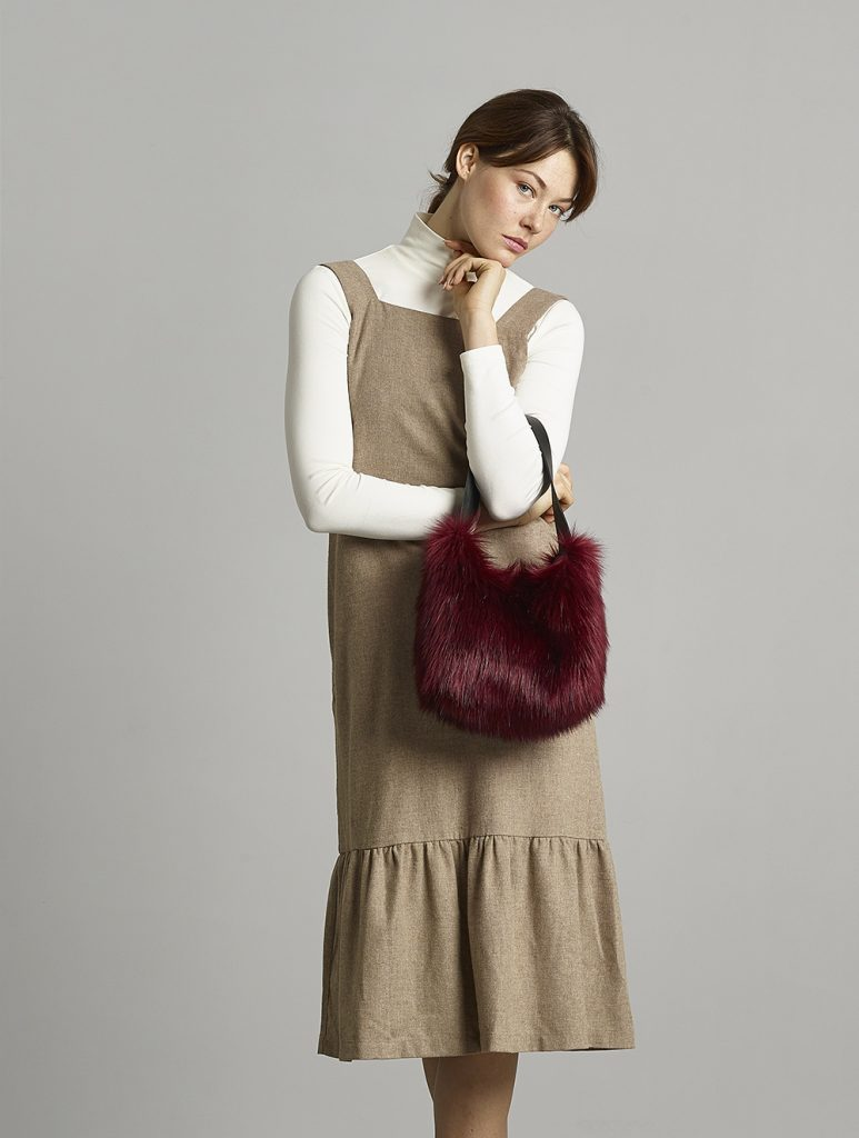Helen Moore faux fur mini bag