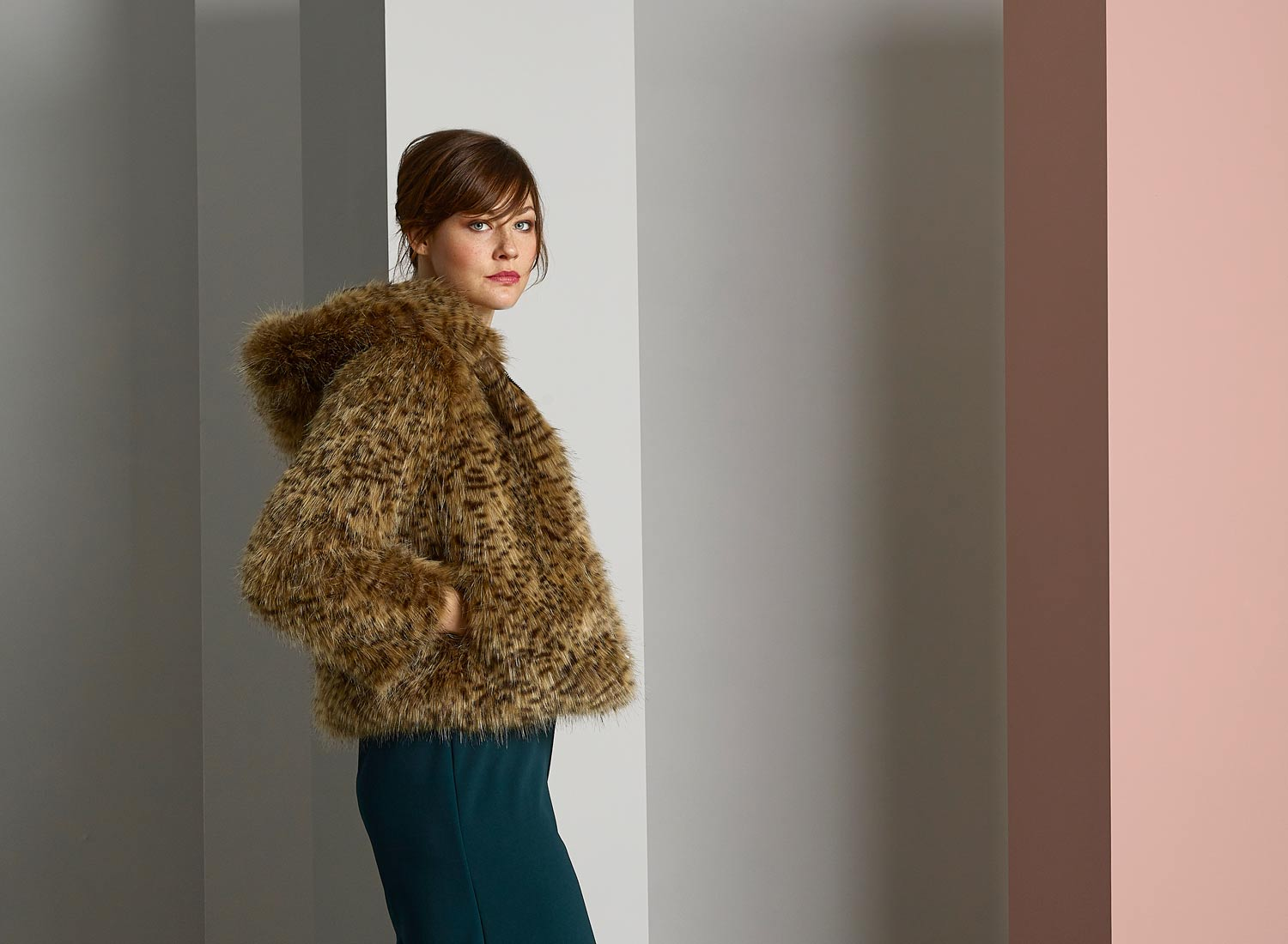 Helen Moore faux fur jacket