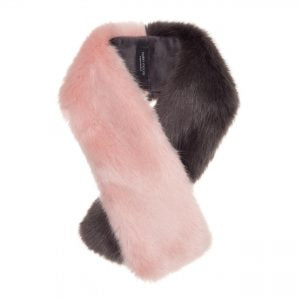 Tippet scarf by helen moore in dusky pink and grey