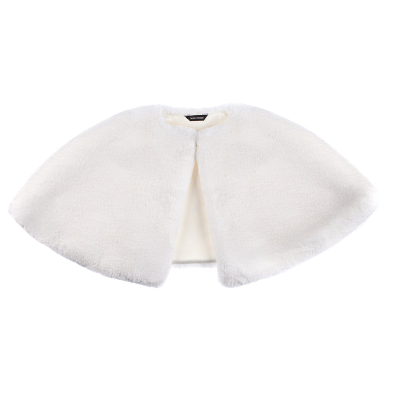 Children's Short Cape by Helen MooreChildren's white faux fur short cape for weddings and holy communion by Helen Moore