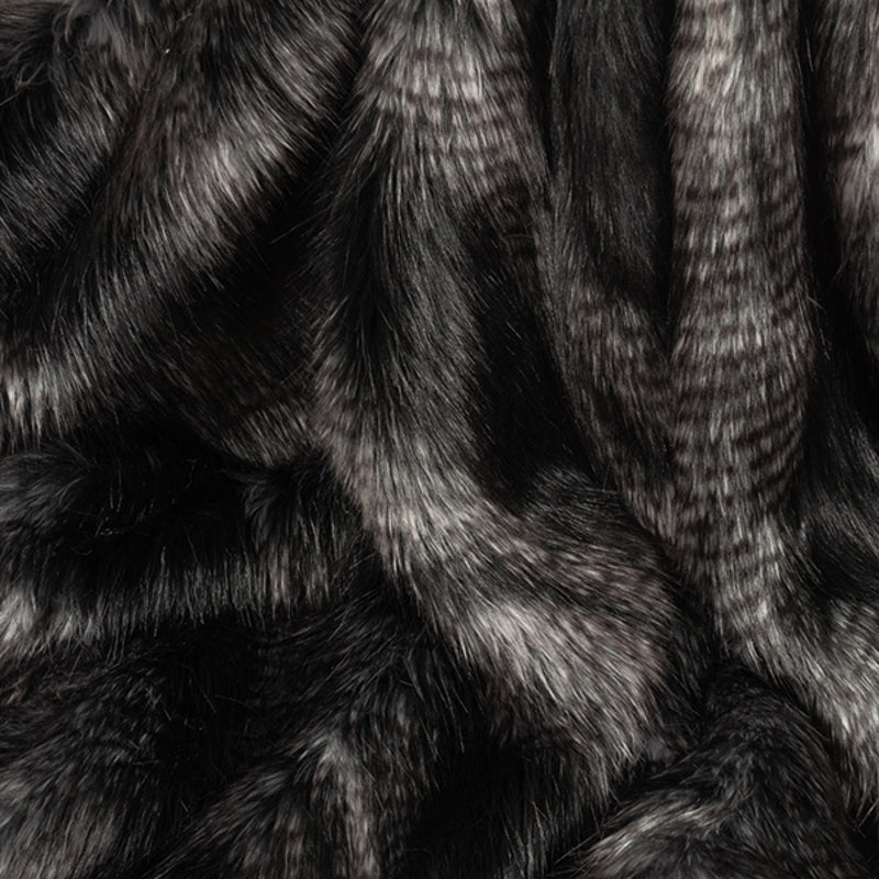 Black Quail Faux Fur Swatch by Helen Moore