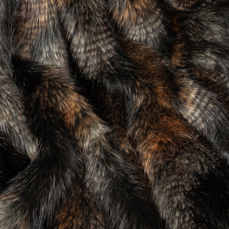 Brown Quail Faux Fur Swatch by Helen Moore