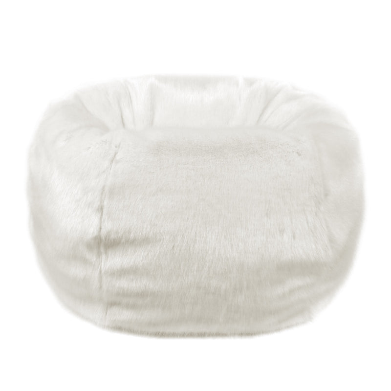 Ermine Faux Fur Bean bag by Helen Moore