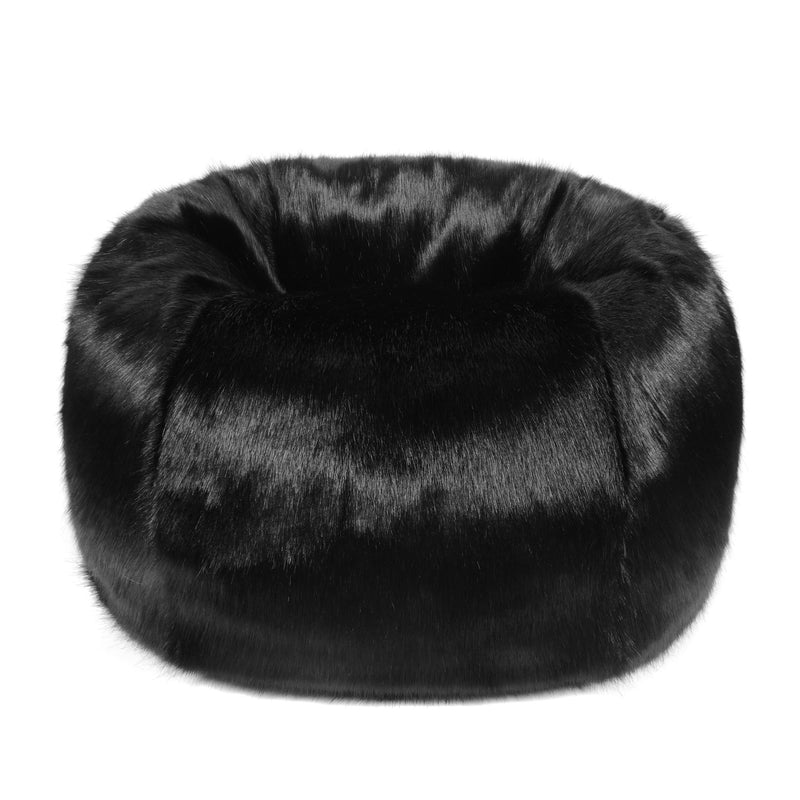 Jet Faux Fur Bean bag by Helen Moore